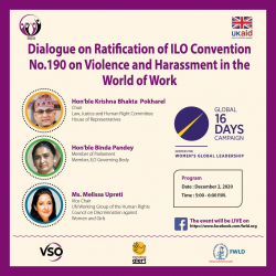 We're Taking the Conversation on ILO Convention No.190 to Nepal!